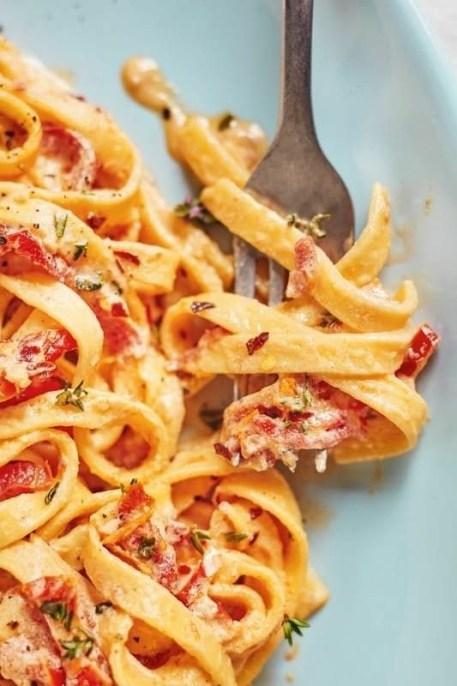 Creamy Sun-Dried Tomato Fettuccine