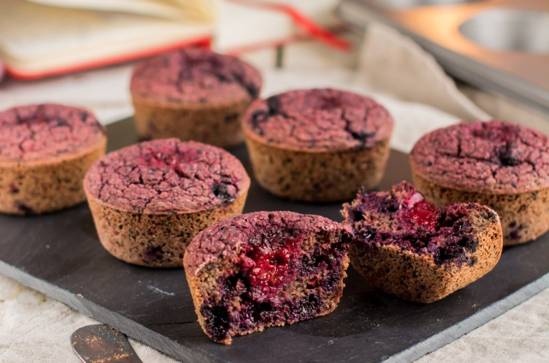 Muffins-Blueberry-Beet-vegan