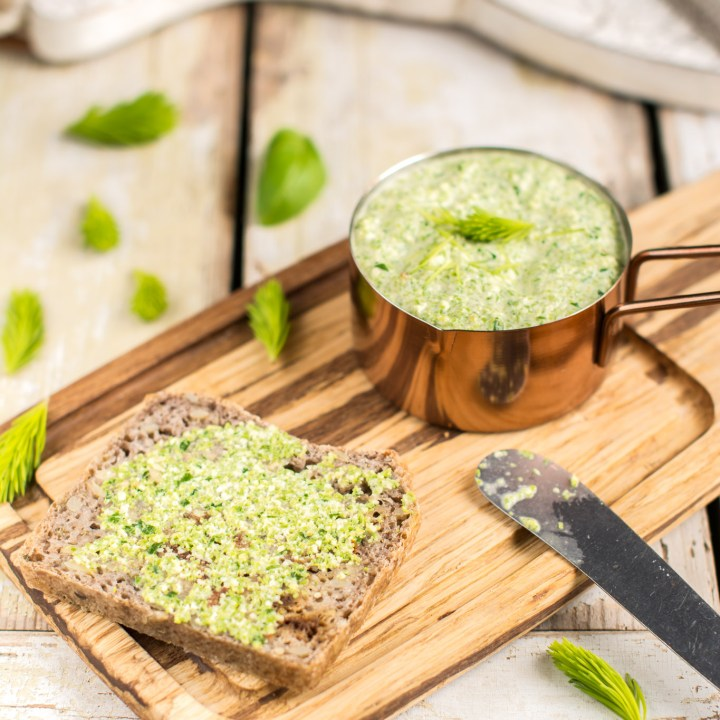 Oil-Free Spruce Tip Pesto