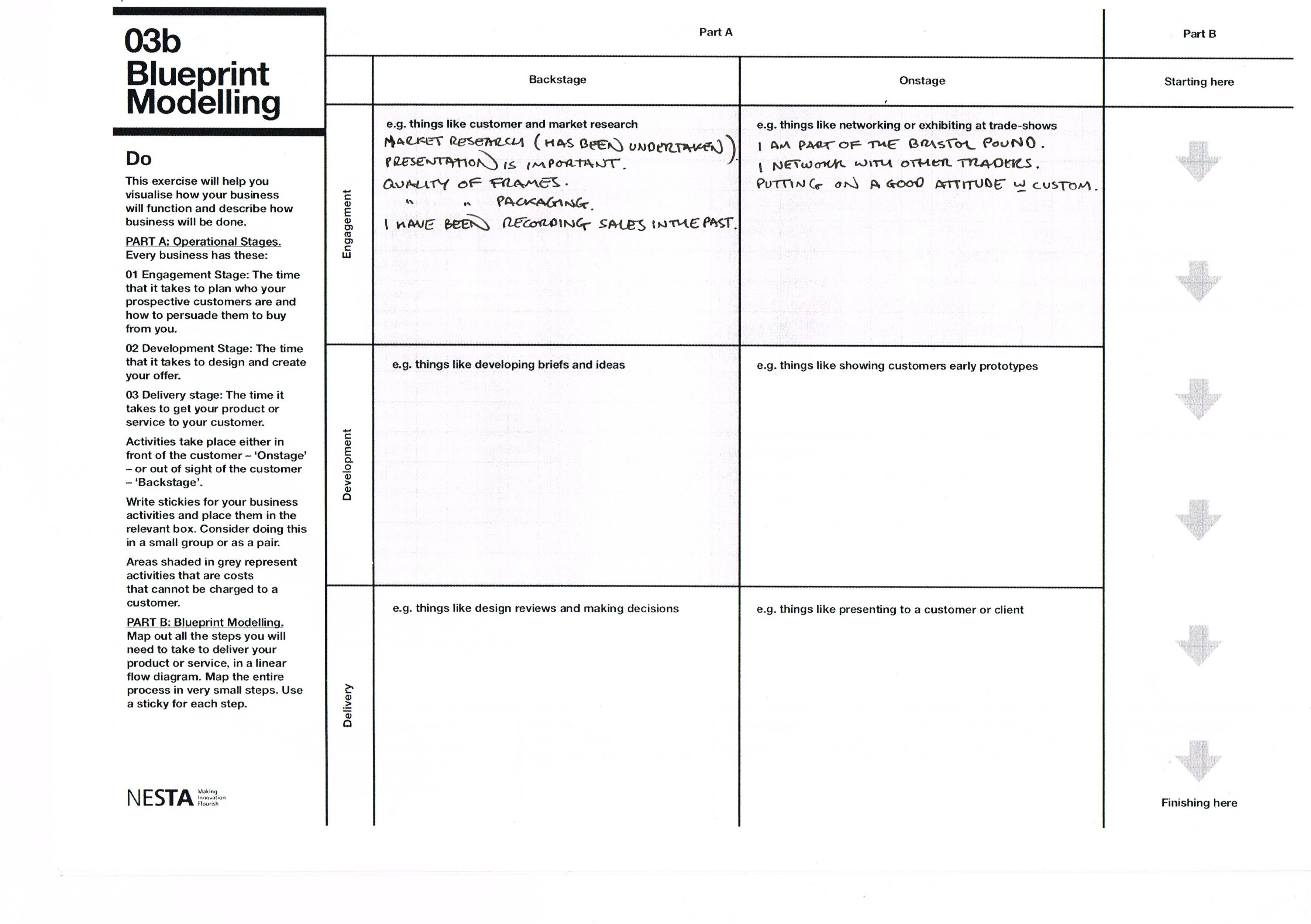 Worksheet Blueprint Modelling
