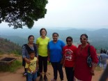 In Madikeri, I stayed at a homestay and this family was in the room next door. I don't remember everyone's names, but Pooja is next to me in the blue, and is about to find out where she got into college. We went together to a lookout point called Raja's seat.