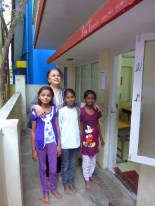Veena and three of her students at Ashwini