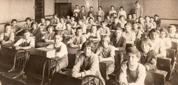 Students at a public school in the United States, in the 1920s.