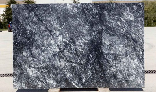 dark grey marble slab