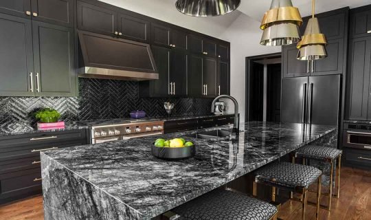 grigio pineta marble kitchen