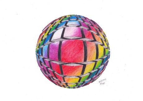 Karmaela surreal sphere fragments Sphragment