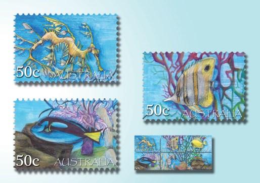 Karmaela Tropical Stamps 1