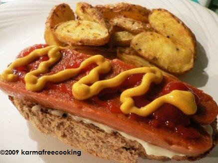 open-faced-hot-dog