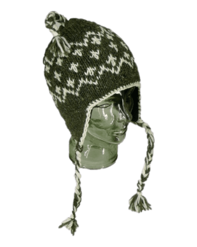 Natural brown knitted winter hat| Karma Gear