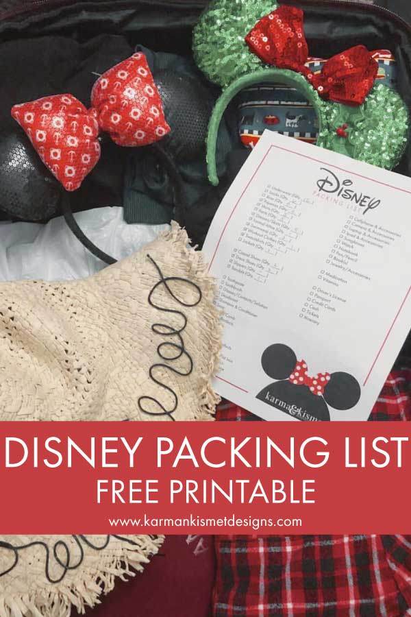 Take the stress out of your Disney packing with this free download of a Disney packing list!