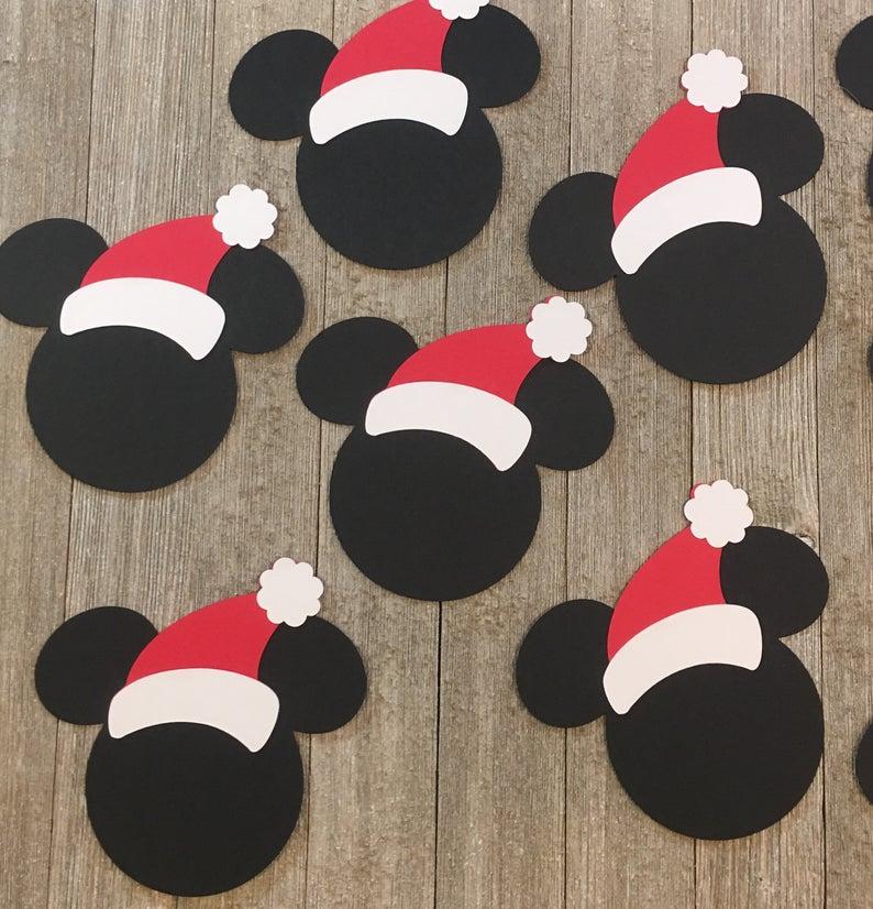 Mickey Mouse Santa Gift Tags