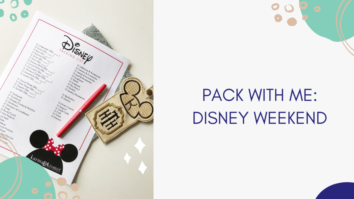 Packing for a Disney World trip