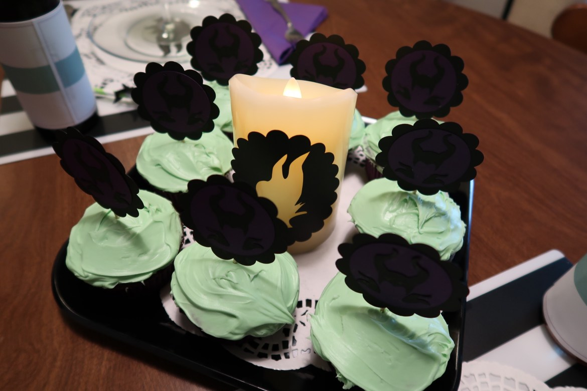 Green cupcakes for our Maleficent Party