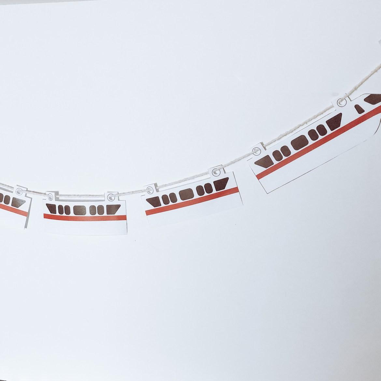 DIY Disney Monoraill Banner
