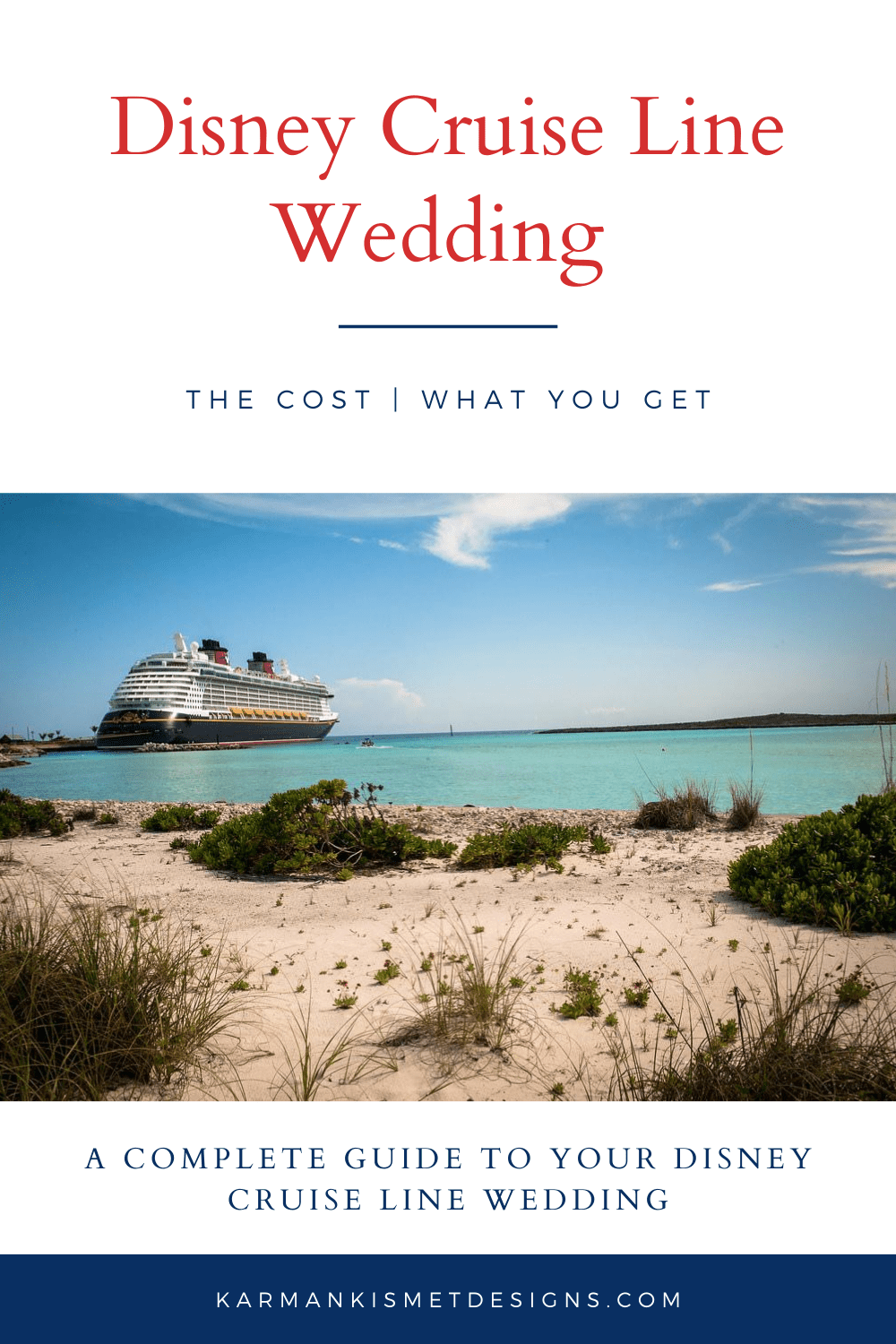 What a Disney Cruise Line Wedding includes