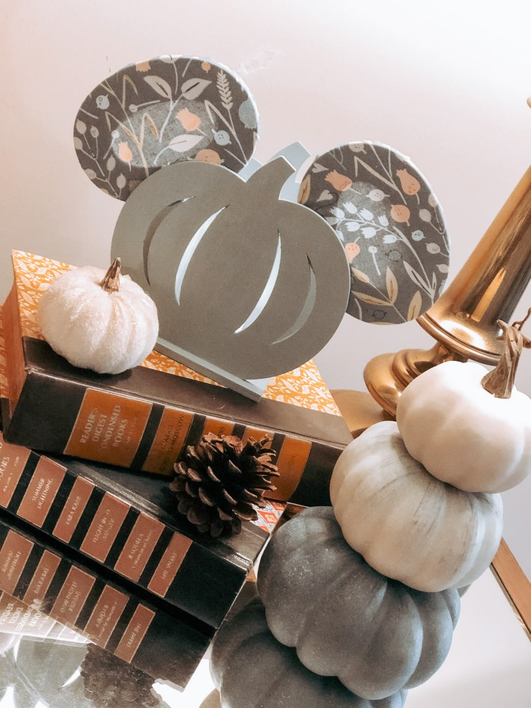 DIY Mickey Mouse Pumpkin Candle Holder