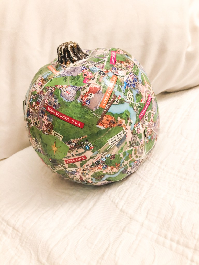 Disney Parks Map Pumpkin DIY