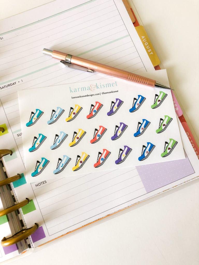runDisney planner stickers