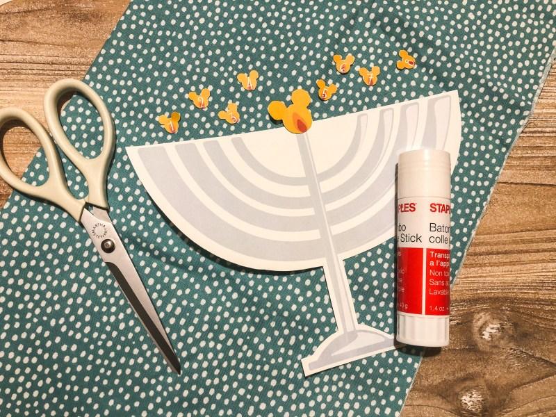 Printable Mickey Mouse menorah to celebrate Hanukkah