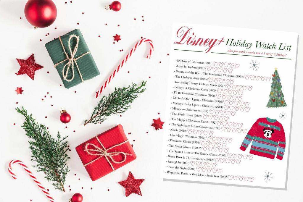 Disney+ Holiday Movie Watch List