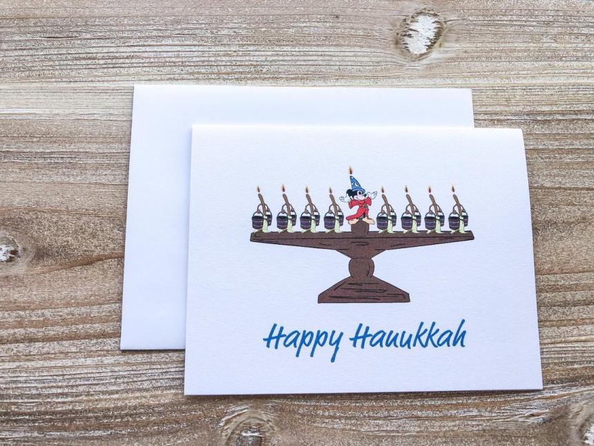 Disney Hanukkah Greeting Card