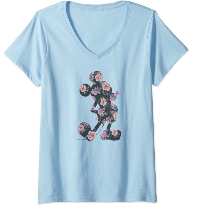 Mickey Mouse Floral T-shirt