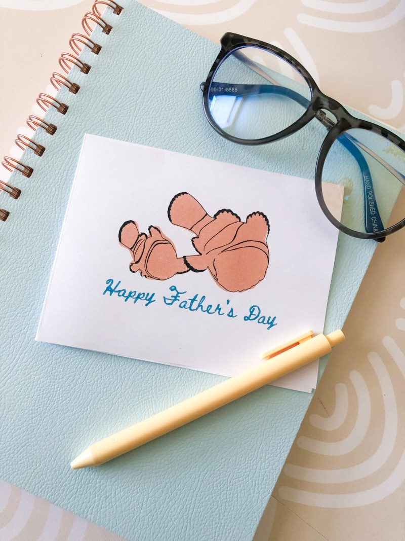 disney fathers day card