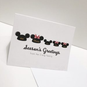 Disney Christmas Card Personalized