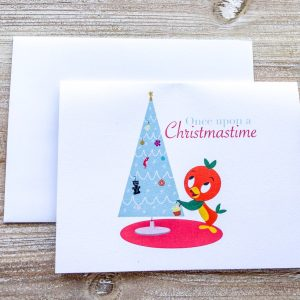 Orange Bird Christmas Card
