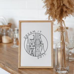 disney cinderella castle art
