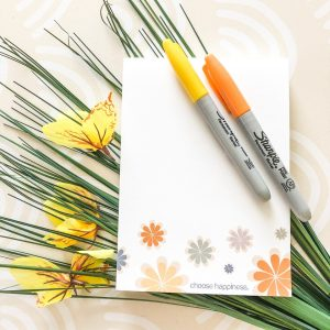 choose happiness notepad