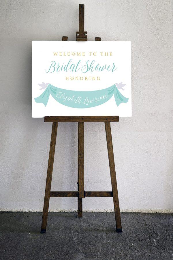 disney cinderella bridal shower sign