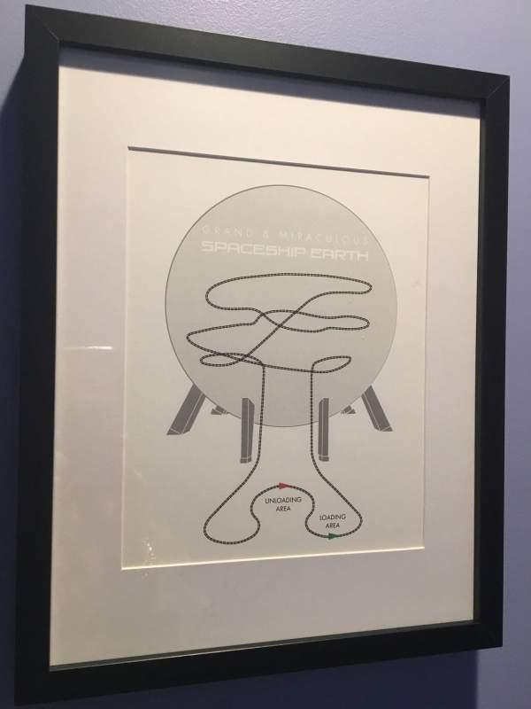 Epcot Spaceship Earth Ride art print