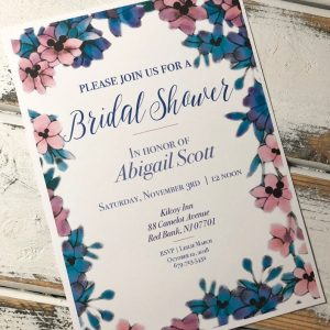 Mickey Mouse Floral Bridal Shower invitation
