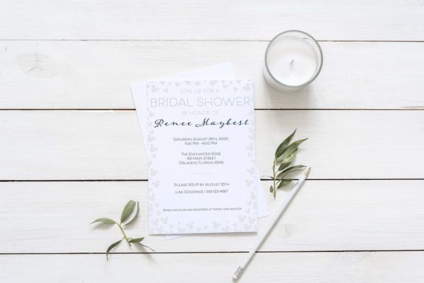 Mickey Mouse Bridal Shower invitation