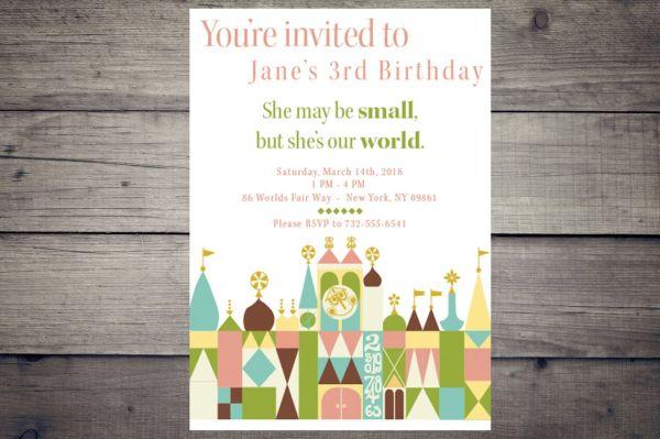 Small World Birthday Invitation