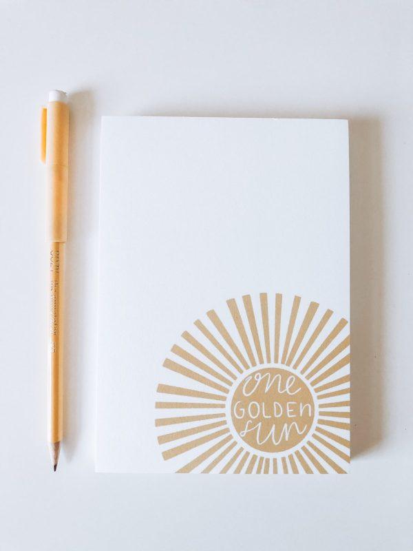 one golden sun notepad