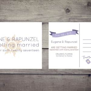 Tangled Wedding Save the Dates