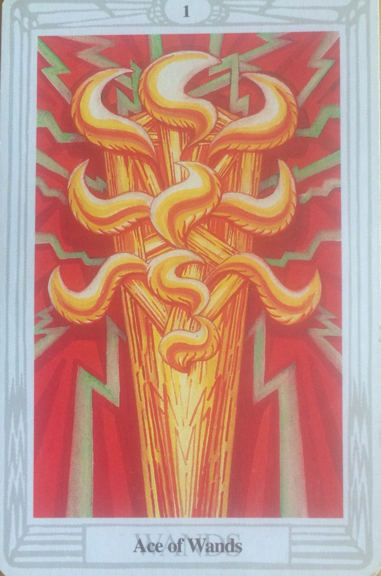Thoth Tarot - Ace of Wands