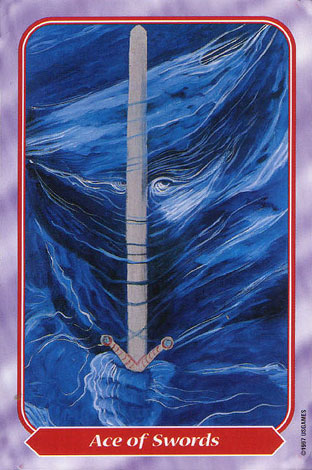 Spiral Tarot Ace of Swords