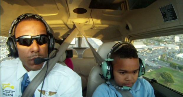 Pilot Inspires Compton Kids to Fly