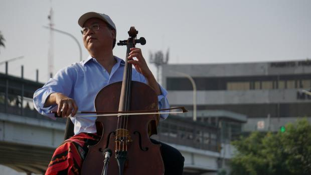 Cellist Plays Bach in the Shadow of the U.S.-Mexico Border