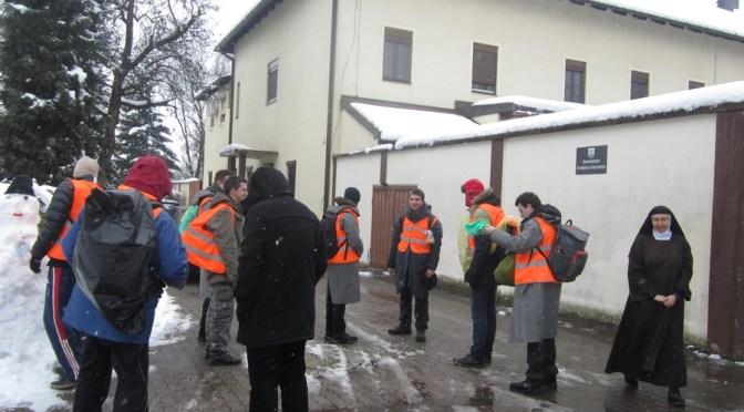 Zagrebački bogoslovi u Karmelu, na putu do Nacionalnog svetišta svetog Josipa