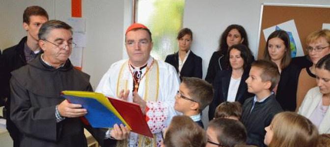Kardinal Bozanić blagoslovio prvu Katoličku osnovnu školu u Zagrebu