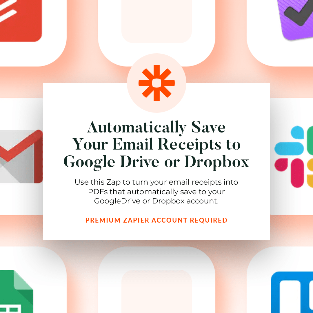 Automatically Save Your Email Receipts to Google Drive or Dropbox