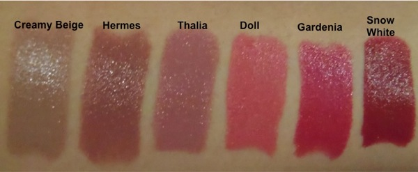 Reviewing the Popular NYX Round Lipsticks (1/5)