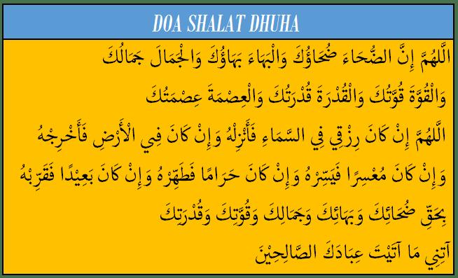 Doa Niat Dan Tata Cara Sholat Dhuha Lengkap Arab Latin Dan Arti Karna Id