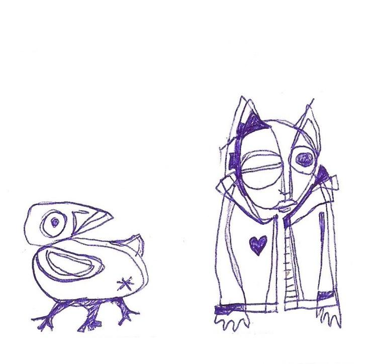 ptak i kot