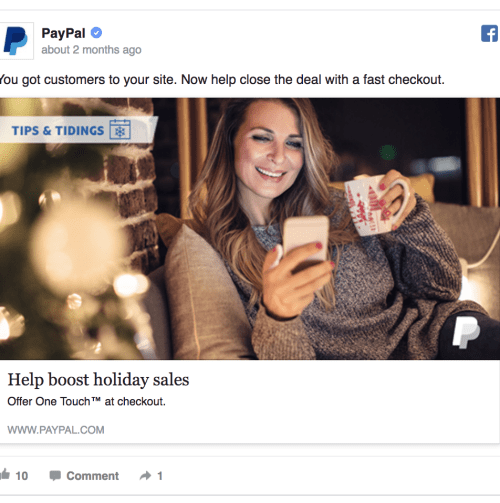paypal ad example