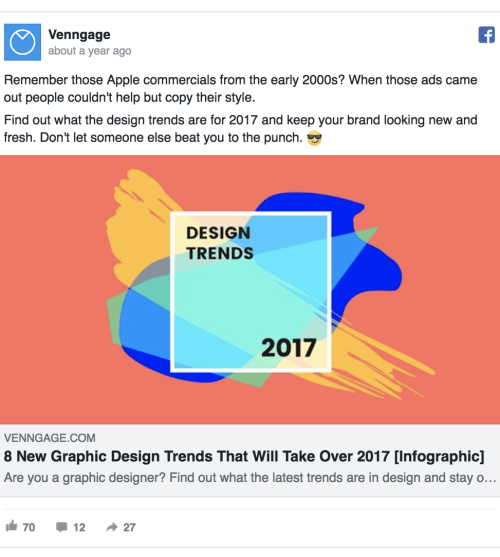 Venngage facebook ad